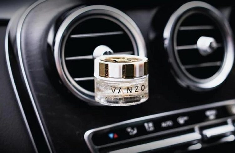 small bottle of car perfume